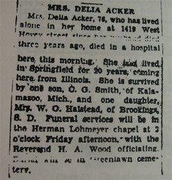 Delia Marie <i>Worden</i> Acker