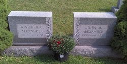 Winifred M <i>Connelly</i> Alexander