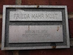 Frieda <i>Mahr</i> Most
