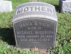 Maria B. <i>Roth</i> Wiedrich
