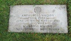 Martha Mattie <i>Waits</i> Wilson