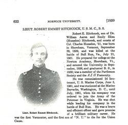 Lieut Robert E. Hitchcock