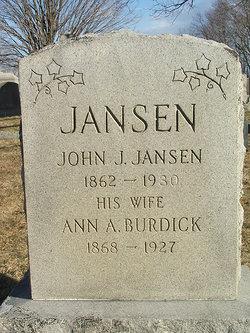 Ann Amie or Amy <i>Burdick</i> Jansen