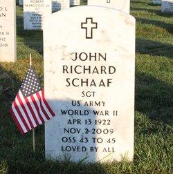 Sgt John Richard Schaaf