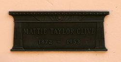 Mattie Taylor Clive