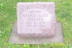 Nannie Alice <i>Pruitt</i> Hillard
