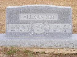 Lillie R Alexander