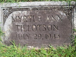 Myrtle Ann Tillotson