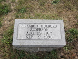 Elizabeth <i>Hulburd</i> Alderson
