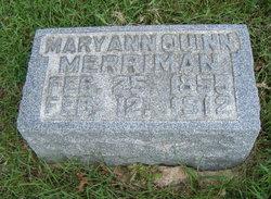 Mary Ann <i>Quinn</i> Merriman
