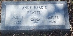Judge Anne Sinkler Mitt <i>Baskin</i> Beattie