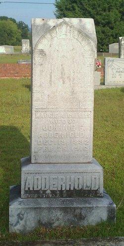 Mary Ann Margaret Maggie <i>Collins</i> Adderhold
