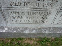 Ann Mariah <i>Walker</i> Tomlinson