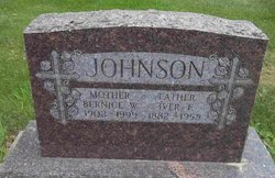 Bernice Wilhelmena Alevanetrina <i>Lindeman</i> Johnson