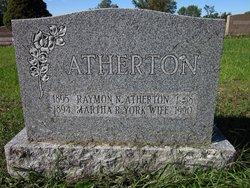 Martha R. <i>York</i> Atherton