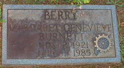Margaret Genevieve <i>Burnett</i> Berry