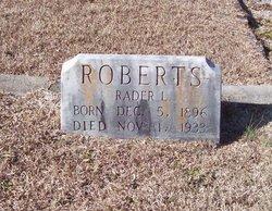 Rader L Roberts