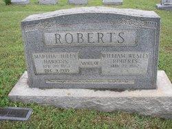 Martha Juley <i>Hawkins</i> Roberts