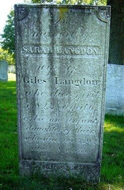 Sarah <i>Carter</i> Langdon