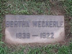 Bertha Weckerle