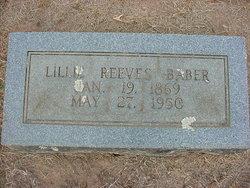 Lillie V. <i>Reeves</i> Baber