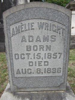 Amelie M. <i>Wright</i> Adams