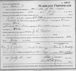 Mildred Marie <i>Rader Newman</i> Horton