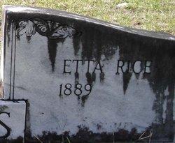 Etta <i>Rice</i> Millis