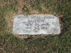 Minnie Moro <i>Middlebrooks</i> Bateson