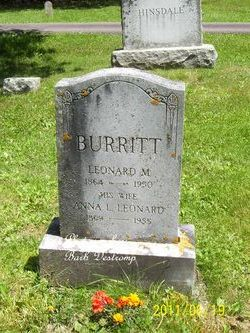 Anna Laura <i>Leonard</i> Burritt