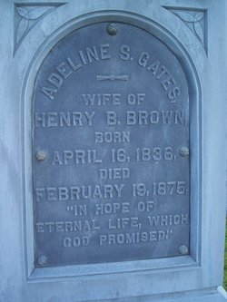 Adeline S <i>Gates</i> Brown