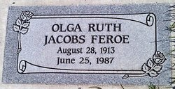 Olga Ruth <i>Jacobs</i> Feroe