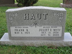 Juliet Elizabeth Betty <i>Moser</i> Haut
