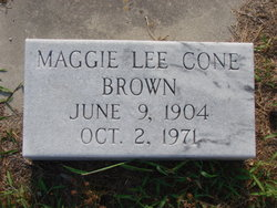 Maggie Lee <i>Cone</i> Brown