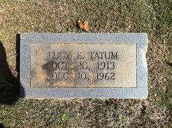 Lucy E Tatum