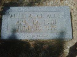 Willie Alice <i>White</i> Acuff
