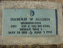 Harold W Allden