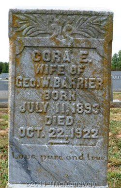 Cora Elizabeth <i>Troutman</i> Barrier