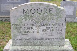 Mary Frances Fannie <i>Anderson</i> Moore