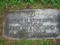 Clarence M Baumgardner