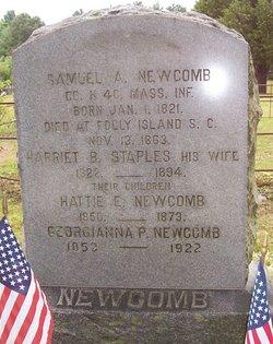 Harriet Burr <i>Staples</i> Newcomb