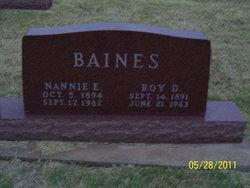 Nannie Ellen <i>Taggart</i> Baines