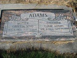 Orvetta <i>Wing</i> Adams