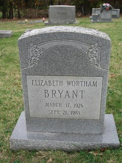 Elizabeth <i>Wortham</i> Bryant