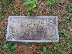 Hester Ann <i>Jefferson</i> Foley