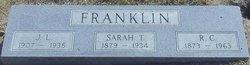 Sarah Temperance <i>Harding</i> Franklin