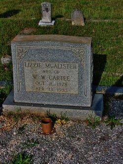 Elizabeth Lizzie Lizzie <i>McAlister</i> Cartee