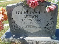 Louetta <i>Rice</i> Brown