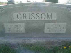 Ellena Effie <i>Barringer</i> Grissom