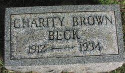 Charity <i>Brown</i> Beck